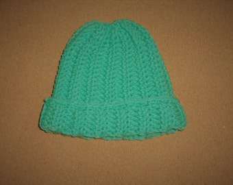 Crochet Toddler Hat, Mint Green ~ Ages 12 mos - 2 years