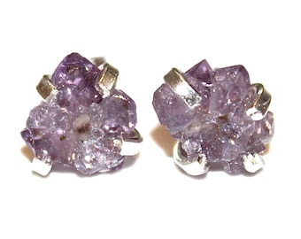 Tiny Stalactite Earring Crystal Flower Earring Amethyst Stalactite Jewelry Raw Gemstone Druzy Earring Drusy Earring Crystal Earring