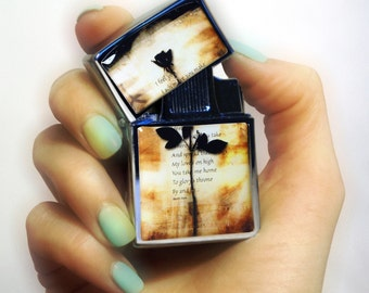 Lighter Depeche Mode music, lighters, music fan lighter, lighter with windproof electronic quartz ignition, fluid STYLE flip top lighter