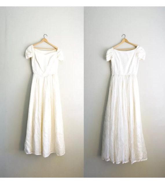Vintage Hochzeitskleid 50er Jahre Brautkleid Jahrgang