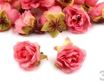 10 Rose Bloom Ø25 mm