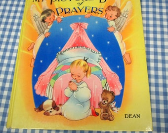 my picture book of prayers, vintage 1960s children's book