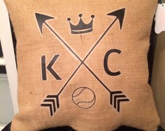 Royals Baseball Pillow, Kansas City, Novelty