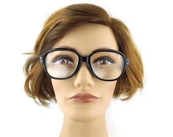 black. eyeglasses. vintage. round. eye glasses. eyeglass frames. men. women. unisex. eyewear. retro. accessories. horn rimmed. 48[]16 140mm
