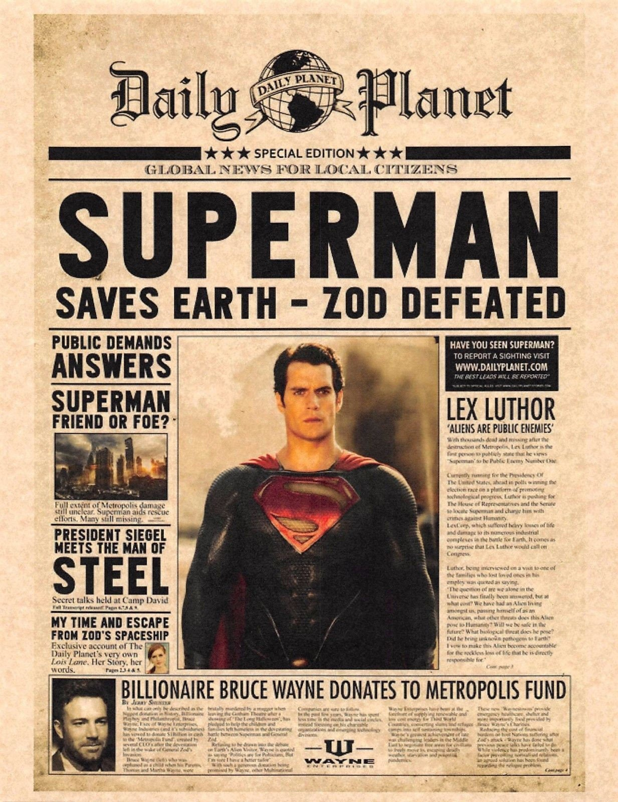 Daily planet superman saves earth zod defeated bruce zoom 1betcityfo Images