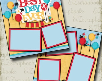 Best Day Ever - Disney - 2 Premade Scrapbook Pages - EZ Layout 2957