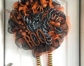 Witchy Halloween wreath