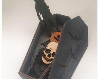 Halloween Coffin Miniature