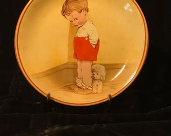 """1988 Davenport Collector Plate """"Thank God For Fido"""" By Mabel Lucie Attwell"""