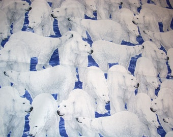 Polar Bears - Northern Lights by Quilting Treasures -  cotton Fabric - 35 inches long by 44 inches wide