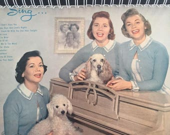 for the The Fontane Sisters (Geri, Marge and Bea / 50s vocal / poodles!  Kitsch  fan Vinyl / Album Cover Notebook
