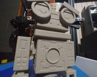 Ancient Stone Robot Figurine