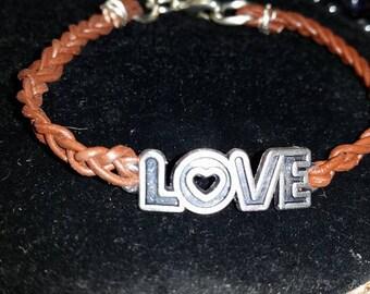 Valentines Day Leather LOVE BRACELET