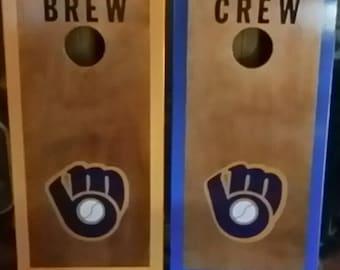 Milwaukee Brewers Cornhole Boards.
