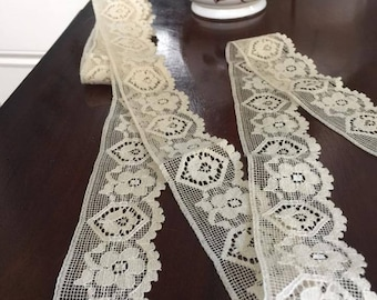 Vintage Cream Lace Trim 280 cm x 4 cm