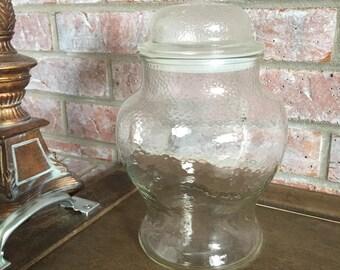 Glass Apothecary Jar Textured