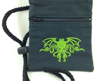 Cthulhu convention lanyard/crossbody bag