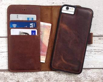 iPhone 7 Wallet Case Leather iPhone 7 Case Leather iPhone Case iPhone 7 Magnet Case Personalized Gift 3rd Anniversary Gift for Him