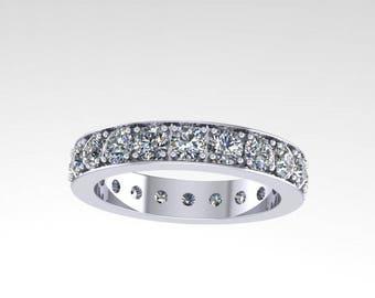 2.05 ct diamond eternity wedding band, style 341WD