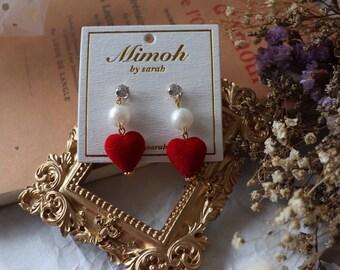 Red Heart Earrings!