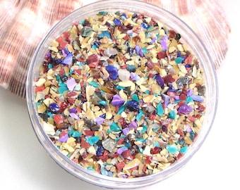 Metamorphosis Glass Frit Blend for Lampwork Bead Making 96 CoE Silver Glass Royal Purple Rose Turquoise Raku  - Available in 2 sizes