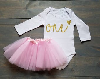 Second Birthday Outfit Toddle Baby Girl Tutu Dress #B-08