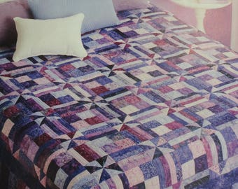 Purple Reigns Batik Quilt Kit with Pattern and Backing