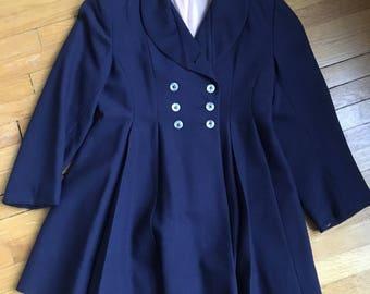 Vintage Princess Coat/Vintage Childs Coat/Vintage Childs Princess Coat/Navy Princess Coat/Childs Princess Coat