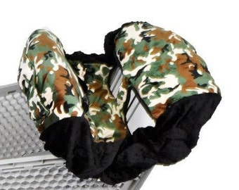 Shopping Cart Cover- Camouflage/Black