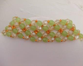 Faceted Czech glass beads bracelet
