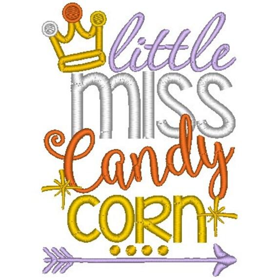 SAMPLE SALE, Little Miss Candy Corn Embroidered Halloween Shirt - Boys Halloween Shirt - Girls Halloween Shirt - Fall Shirt