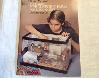 Miniature needlepoint  rugs for doll houses by Dover Publications