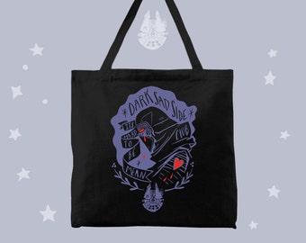 Dark Sad Side Club Kylo Ren fan black tote bag