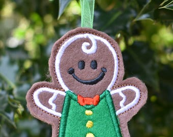 Gingerbread Boy Christmas Cookie Ornament