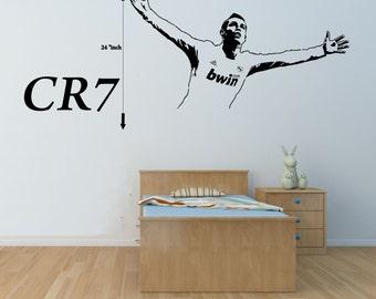 Ronaldo decal etsy more colours cristiano ronaldo wall decal voltagebd Choice Image