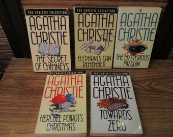 Vintage Agatha Christie Collection of Five Books Fontana Editions 1970s - Poirot and Miss Marple (1970s)