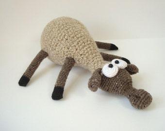 Crocheted Stuffed Sheep Collectible Amigurumi Farm Animal