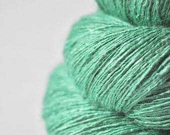 Chilly green sea - Tussah Silk Lace Yarn - Hand Dyed Yarn - handgefärbte Wolle - DyeForYarn