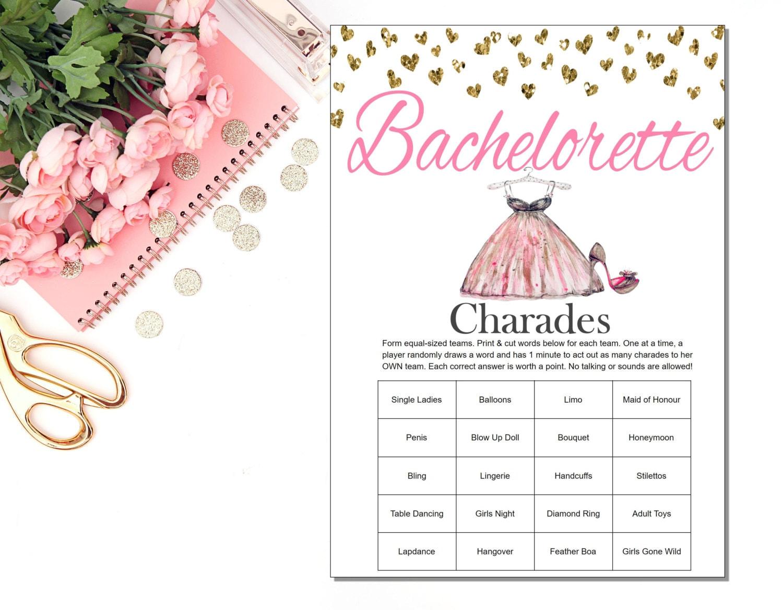 Bachelorette Party Charades Bachelorette Charades
