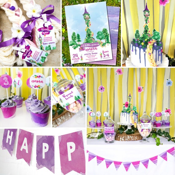 Rapunzel Party Decorations Rapunzel Party Princess Party