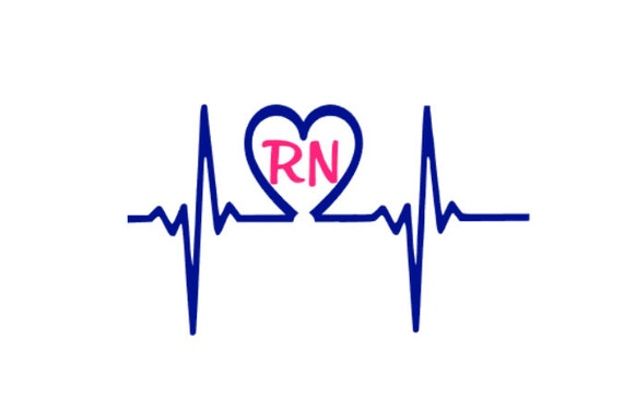 Rn Heart Rate Line Vinyl Car Decal Custom Nursing Decal
