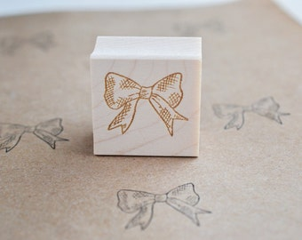 Bow Rubber Stamp - Cute Stamp - DIY wrapping