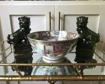 Rose medallion chinoiserie bowl