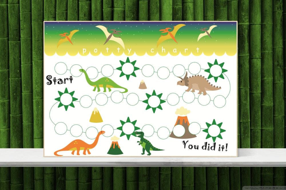 dinosaur sticker chart printable potty training chart toilet