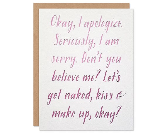 Funny apology card i am sorry troubled relationship