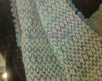 Cape Breton Morning - hand woven cowl, wool, hand woven,  scarf, lace scarf, natural, hand dyed