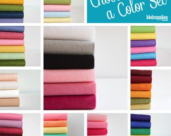 Wool Blend Felt | Yard of each color | 36 x 36 inch | Pick a Color Set | DIY