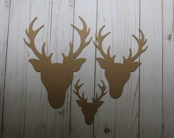 Deer Head/Trophy Bare Chipboard Diecuts [three sizes to choose from]