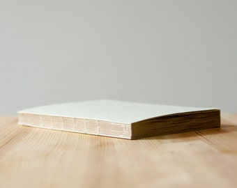 Light Cream Coptic Stitch Notebook | Sketchbook | Journal