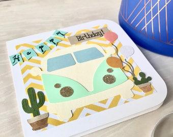 Bus Happy Birthday Card